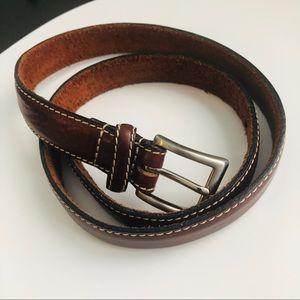 Brown Genuine Leather Belt